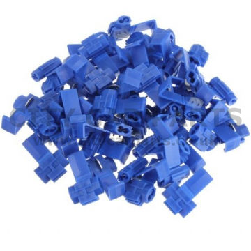 Blue Scotchlock Type Self Stripping Connector - Suitable for 1.5-2.5mm Cable - Pack 25